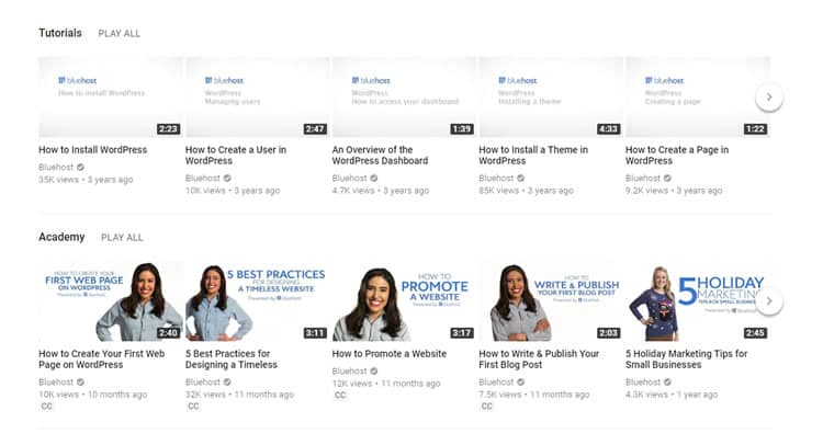 bluehost-video-tutorials