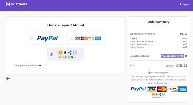 hostinger-payment