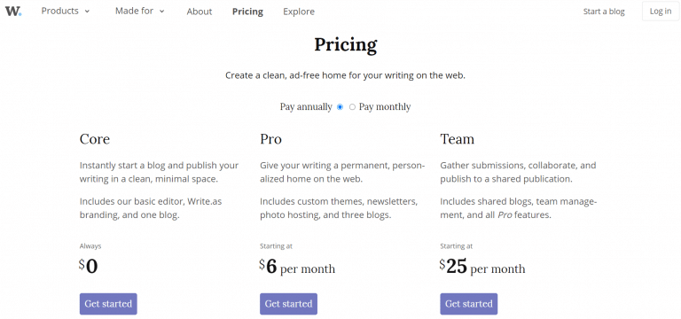 write.as pricing drive-traffic-to-my-website
