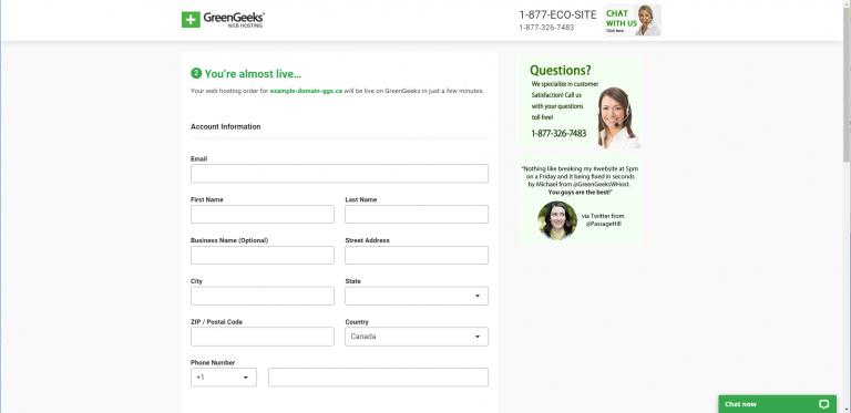 greengeeks-quick-launch-wizard-account-information