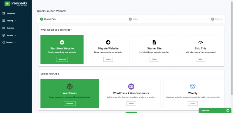 greengeeks-quick-launch-wizard-new-website