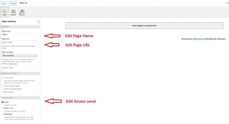 how-to-create-membership-website-wild-apricot-edit-home-page