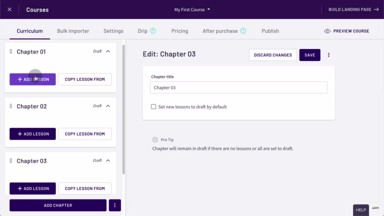 Thinkific-review-tutorial-create-chapters