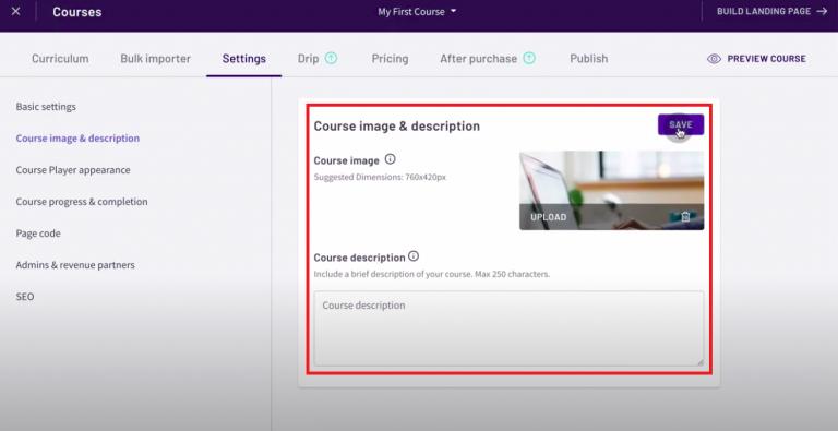 Thinkific-review-tutorial-create-site-thumnail-description