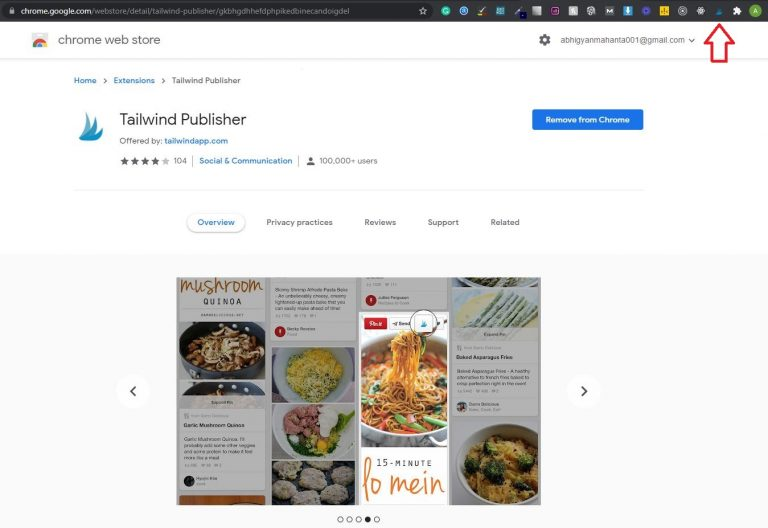 Tailwind-review-chrome-extension