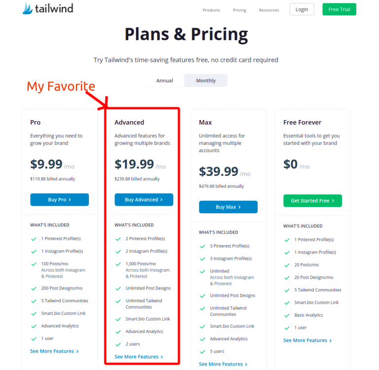 Tailwind-review-pricing-plans