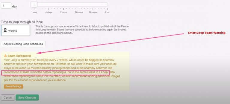 Tailwind-review-smartloop-spam-warning